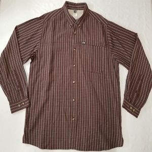 The North Face plaid long-sleeve shirt men sz 2XL